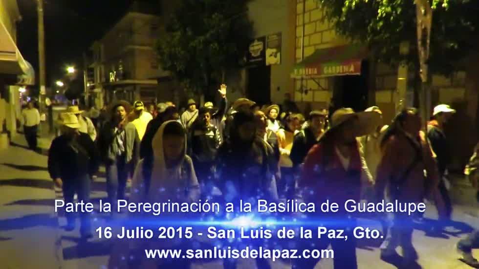 Parte la Peregrinación a la Basílica de Guadalupe, 16 Julio 2015