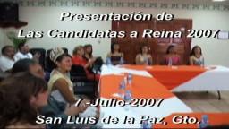 Presentación De Las Candidatas a Reina 2007
